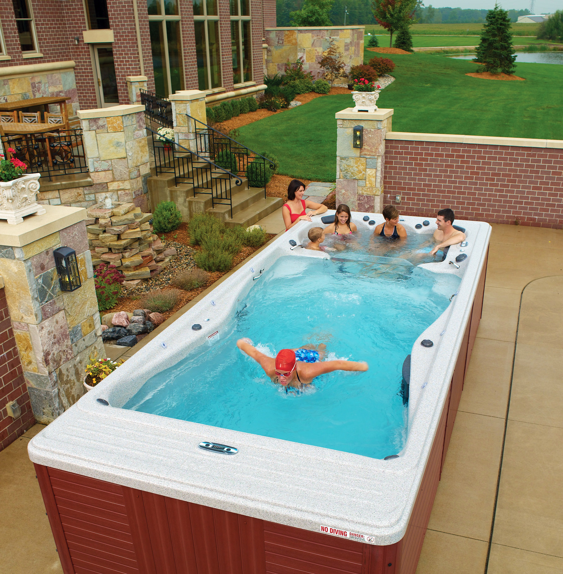 Swim spas spas and more for Spa swimming pool